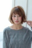 小顔ショートバングミディ【ラベンダーアッシュ】U-217