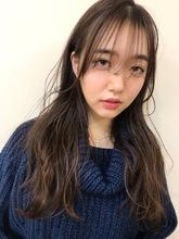 シースルー小顔バング波ウェーブモテ髪☆宮下|Maria by afloatのヘアスタイル