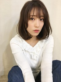 「鎌倉スタイル」大人小顔ひし形ボブシースルーバング29