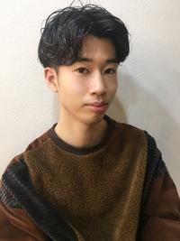 【山田】グランジマッシュセンターパートメンズパーマy15