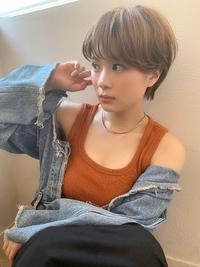 アフロート 小顔ひし形丸みショートマッシュy21