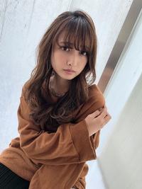 女子アナ風くびれセミディ【シナモンブランジュ】U-254
