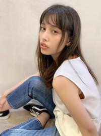 アフロート添田の小顔カット!透明感アッシュヘルシーレイヤーs-84