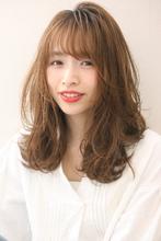 小顔バングナチュラルカールセミディ♪S81|Maria by afloatのヘアスタイル