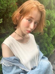 かきあげバング外国人風ひし形ボブディy46|Maria by afloatのヘアスタイル