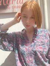 ぱつっとアゴラインミニボブy60|Maria by afloatのヘアスタイル