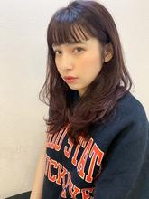 無造作カールショートバングベリーピンクy88 Maria by afloat 山田 祐里のヘアスタイル