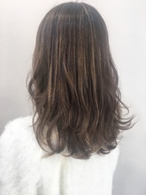 【お客様スタイル】外国人風ハイライトブランジュ|Maria by afloatのヘアスタイル