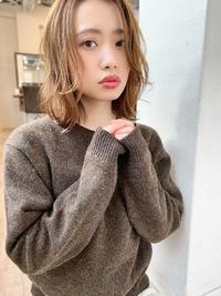 添田】ハイライト 明るめ透明感カラー 顔まわりに小顔カット