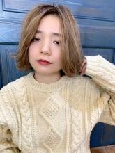 【重山】長めバング外ハネボブ|Maria by afloatのヘアスタイル