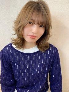 外ハネカジュアルセミディ♪ Maria by afloatのヘアスタイル