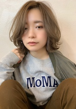 【重山】外ハネレイヤーニュアンスボブ♪|Maria by afloatのヘアスタイル