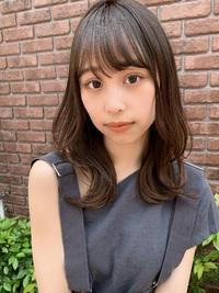 大きめカール外ハネくびれカジュアルレイヤーセミディy134