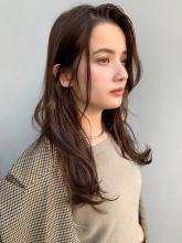 小顔ゆるふわパーマ外ハネロングy177|Maria by afloatのヘアスタイル