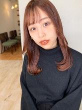 【山田】ナチュラルカールツヤナチュラルピンク|Maria by afloatのヘアスタイル