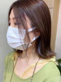 お客様スタイル☆大人かわいいインナーカラー