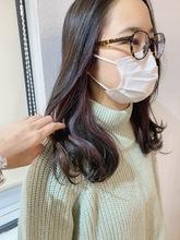 【山田】お客様スタイル☆インナーカラーラベンダー|Maria by afloatのヘアスタイル