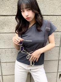 韓国風クアンク大きめカール暗髪つやアッシュ