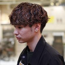無造作メンズパーマのマッシュショート|MASHU 北堀江店のヘアスタイル