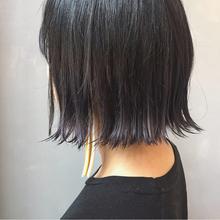 切りっぱなしボブ ラベンダーグレー|MASHU 北堀江店のヘアスタイル