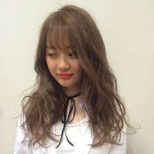 シースルーバング×ヘルシーロング|MASHU 北堀江店のヘアスタイル