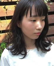 マーメイドアッシュのミディアムスタイル|MASHU 北堀江店のヘアスタイル