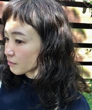 モーブカラーのワイドバングスタイル|MASHU 北堀江店のヘアスタイル