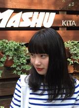ワイドバングのモードスタイル|MASHU 北堀江店のヘアスタイル