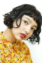 黒髪セミウェットのラフウェーブ|MASHU 北堀江店のヘアスタイル