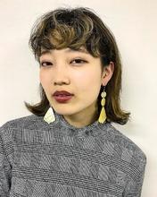 モードなとろみワンカール重軽ボブ|MASHU 北堀江店のヘアスタイル