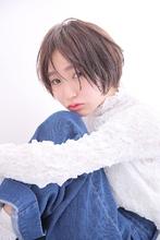 抜け感小顔ナチュラルショートボブ|MASHU 北堀江店のヘアスタイル