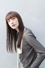 美髪ツヤストレート|MASHU 北堀江店のヘアスタイル