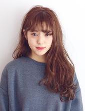 ゆるふわシースルーバング|MASHU 北堀江店のヘアスタイル
