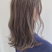 ベージュ|MASHU あべのnini店のヘアスタイル