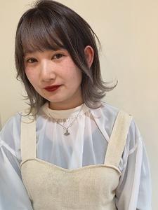 グレージュグラデーション|MASHU あべのnini店のヘアスタイル
