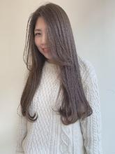 グレージュ|MASHU あべのnini店のヘアスタイル