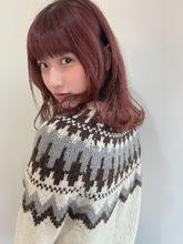 モブピンク|MASHU あべのnini店のヘアスタイル