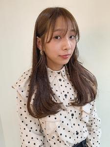 春ベージュ|MASHU あべのnini店のヘアスタイル