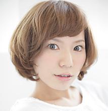 creamy bob |MASHU あべのnini店のヘアスタイル