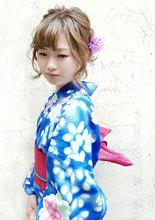 浴衣 アップスタイル|MEGAMI BeautyShop 西淀川区 塚本店のヘアスタイル