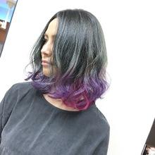 グレージュベースのデザインカラーがめちゃオシャレ^_^|MEGAMI BeautyShop 西淀川区 塚本店のヘアスタイル