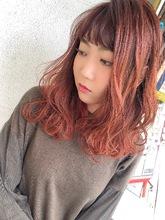 赤を前面に出したツヤツヤダブルカラー^_^|MEGAMI BeautyShop 西淀川区 塚本店のヘアスタイル