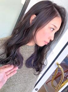 インナーカラーはオシャレに見せたい方にオススメ^_^ MEGAMI BeautyShop 西淀川区 塚本店のヘアスタイル