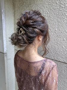 パーティーや結婚式などにも^_^|MEGAMI 美容室 西淀川区 塚本店のヘアスタイル