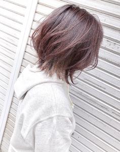 春にオススメな淡いピンク系カラー^_^|MEGAMI 美容室 西淀川区 塚本店のヘアスタイル
