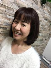 くせ毛の人もスタイリングしやすく♪|MEGAMI BeautyShop 西淀川区 塚本店のヘアスタイル