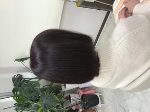 イチゴカラーで白髪も素敵に明るく染まります。|天然へナ&毛質改善・アレルギー・自然派ミッシェル★ウエストのヘアスタイル
