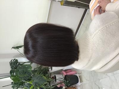 イチゴカラーで白髪も素敵に明るく染まります。|天然へナ・アレルギー改善・自然派ミッシェル★ウエストのヘアスタイル
