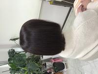 イチゴカラーで白髪も綺麗に明るく染まる。