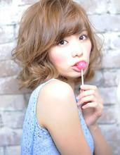 カワゥイィを追及!!ふんわりシフォンカール☆|Michelle by afloatのヘアスタイル